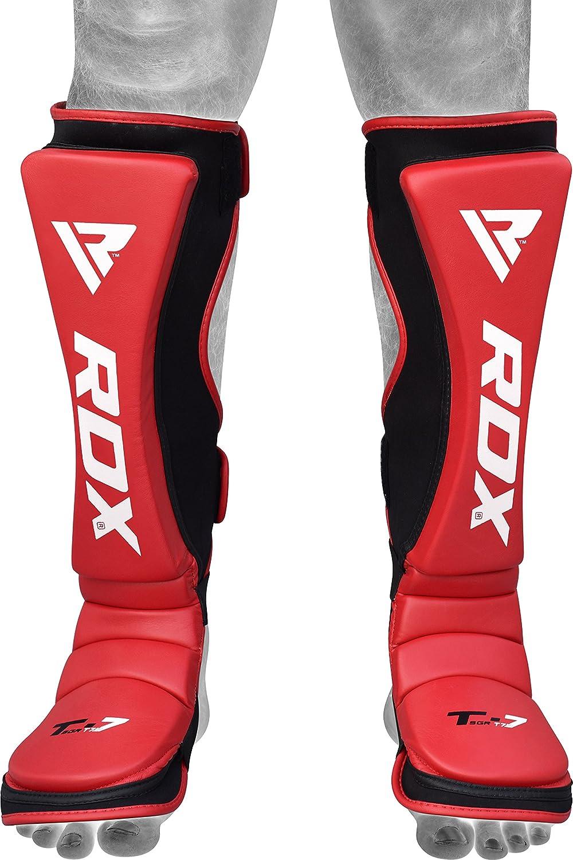 RDX Prot/ège Tibia Maya Hide Cuir Boxe Pied MMA Kick Boxing Arts Muay Thai Martiaux Karate