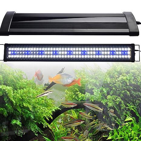 KinshopS Acuarios Eco Acuario LED para acuarios de 120 – 140 cm aufsetzl euchte Aquarium iluminación