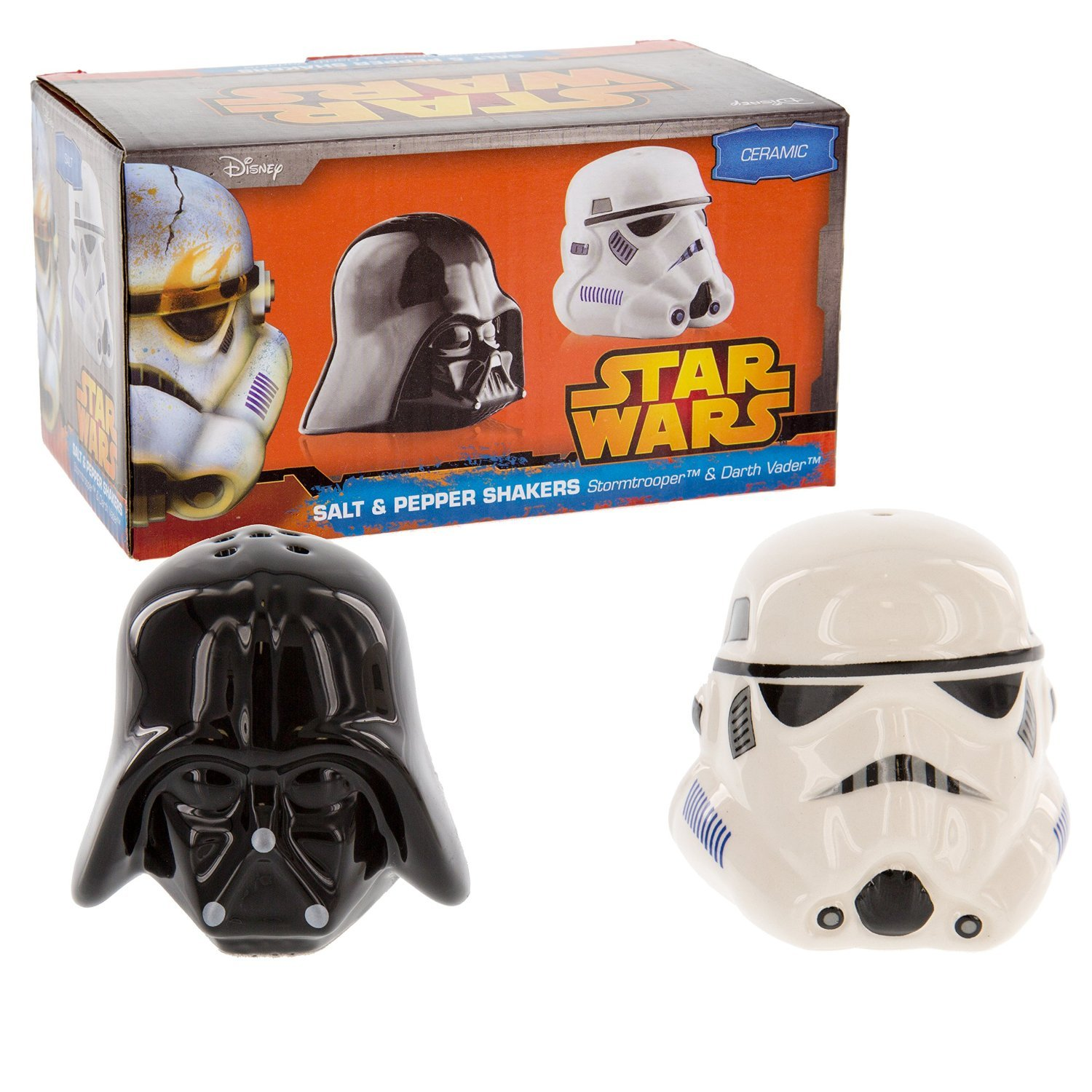 Star Wars Ceramic Salt and Pepper Shakers - Darth Vader & Stormtrooper - Take your Meals to the Darkside! Artist Not Provided Underground Toys SW00696