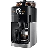 Philips Grindundbrew HD7766/00 filtre kahve makinesi (1000 W, çift çekirdek haznesi) Siyah/metal