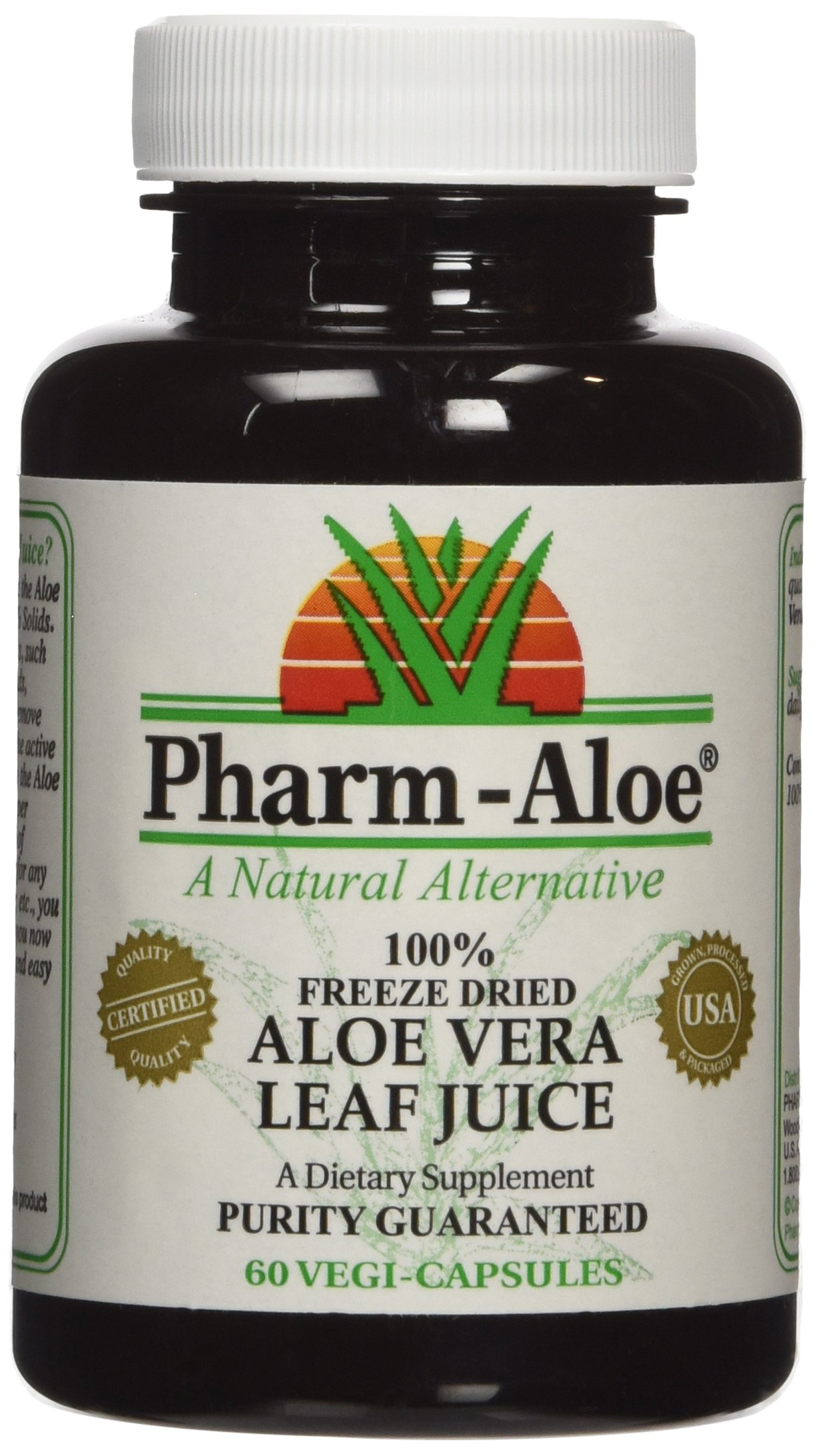 Aloe Vera Capsules - Ranked #1 by ConsumerLab.com by Pharm-Aloe (Image #1)
