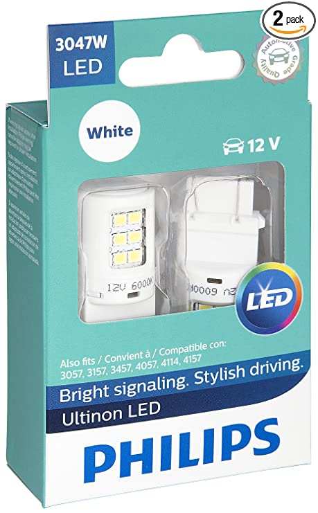 Amazon.com: Philips 3047 Ultinon LED Bulb (White), 2 Pack ...