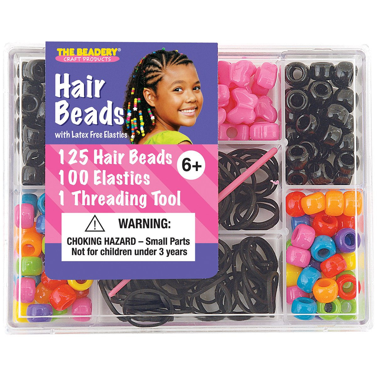 The Beadery 6549 Hair Bead Box Bright