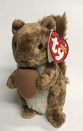af70817a082 Ty Beanie Babies Nuts The Squirrel 2002  Amazon.co.uk  Toys   Games