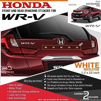 Honda Reflective Stickers For Honda Wrv White 2 Stickers Amazon In