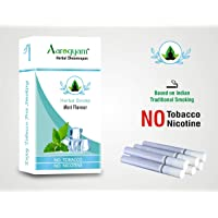 Aarogyam Herbal Cigarettes Mint Flavor for Smokers 100% Tobacco Nicotine-Free Herbal Cigarette for Relieve Stress (Mint Flavour)
