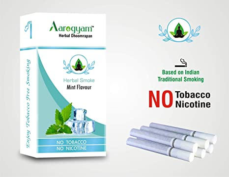 Aarogyam Herbals cigarettes for Smokers Tobacco Nicotine-Free Cigarette for  Relieve Stress (Mint Flavour)