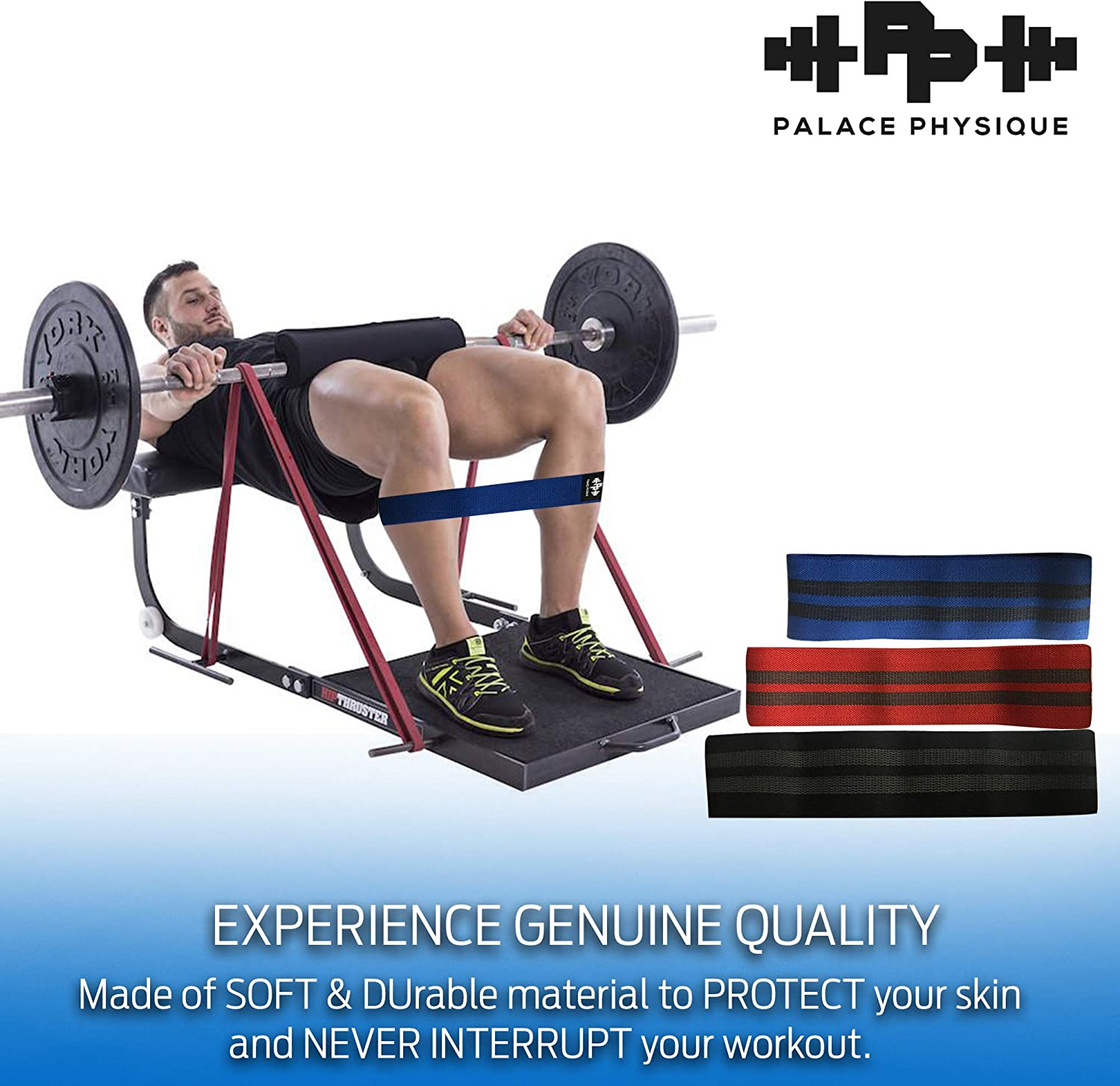Palace Physique Ultimate Resistance Band for Leg,Thigh /& Glutes Training Portable /& Heavy-Duty Home Gym Accessory for Women /& Men|Strengthens Legs /& Butt Nonslip /& Soft Quads Exercise Band