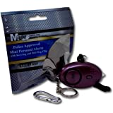 Minder PAL003 140 db Key Ring Personal Attack Alarm with Torch, Purple