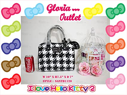 Amazon.com: Hello Kitty Loungefly Houndstooth Blanco y Negro ...