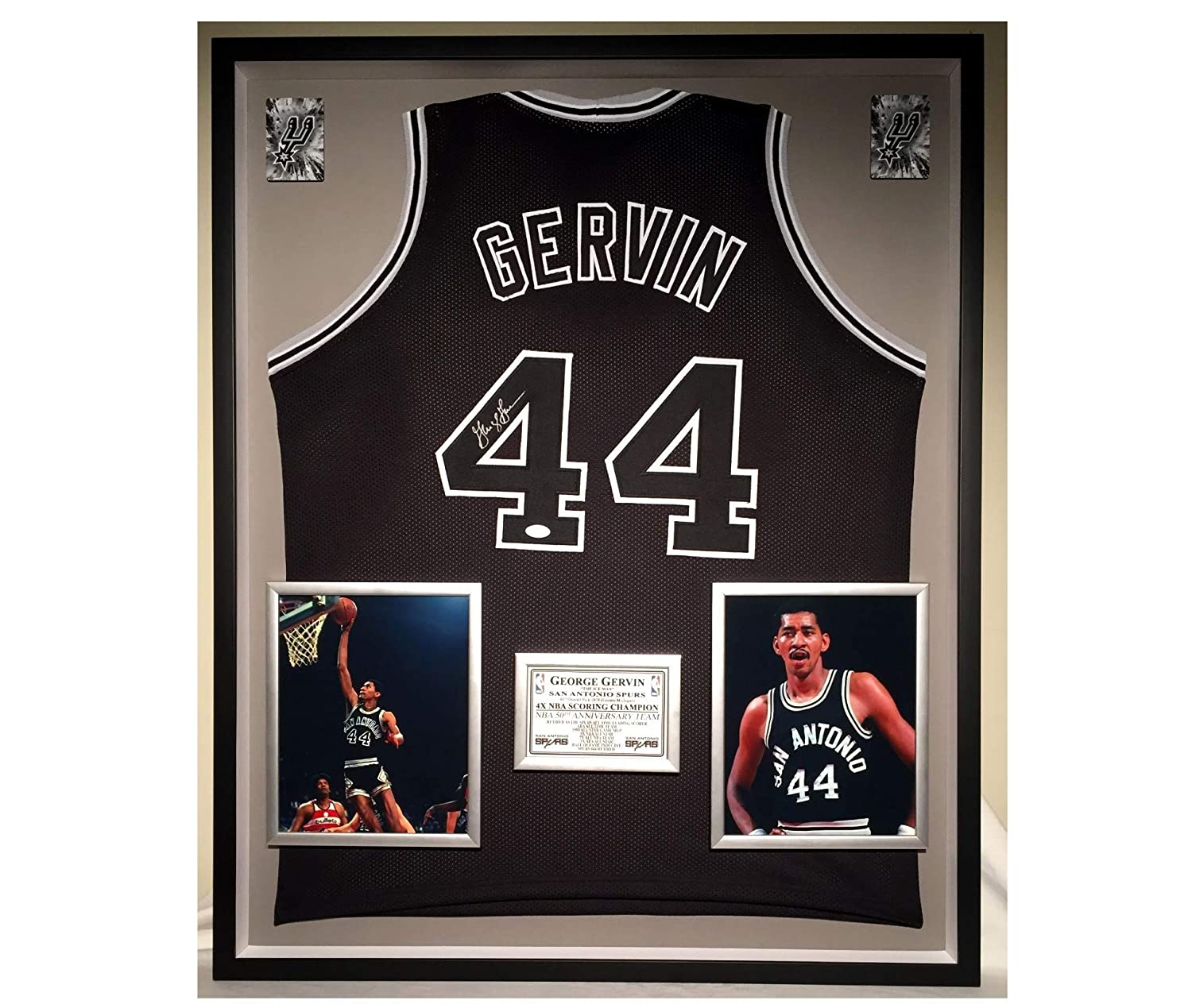 652d738b0c1 Premium Framed George Gervin Autographed/Signed San Antonio Spurs Jersey -  JSA COA at Amazon's Sports Collectibles Store