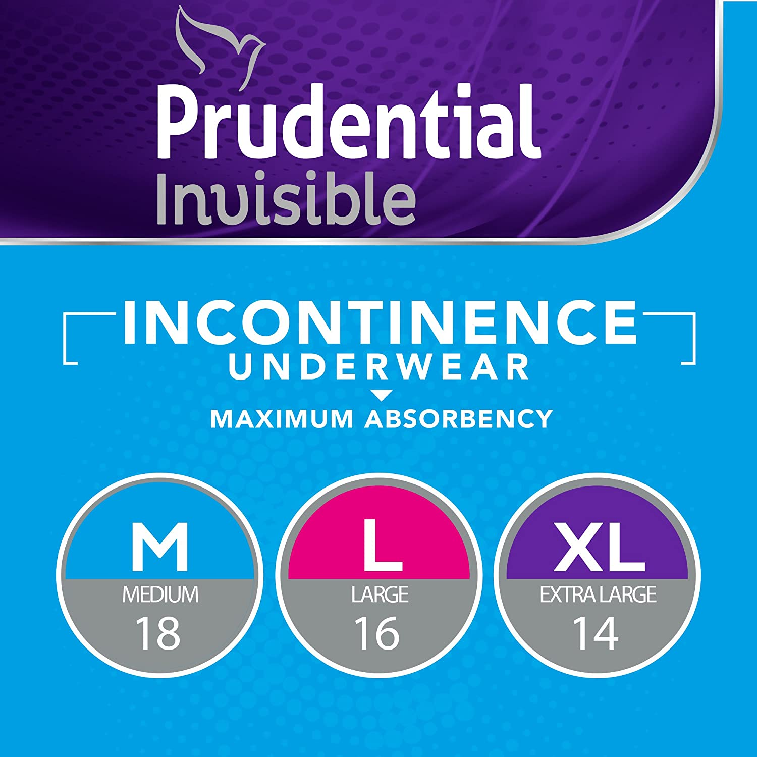 Amazon.com: Prudential Invisible Maximum Absorbency Incontinence Underwear For Men & Women, Extra Large 14 Count (Pack of 4): Health & Personal Care