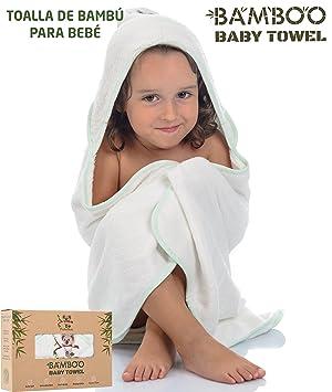Toallas Baño Bebe | Lujosa Toalla De Bebe Con Capucha De Bambu Organico Hipoalergenico