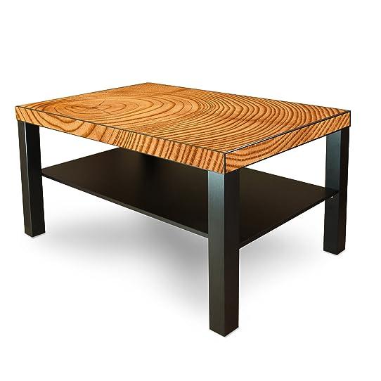 grande table bassedappoint en bois avec motif tronc darbre - Table Basse Tronc D Arbre