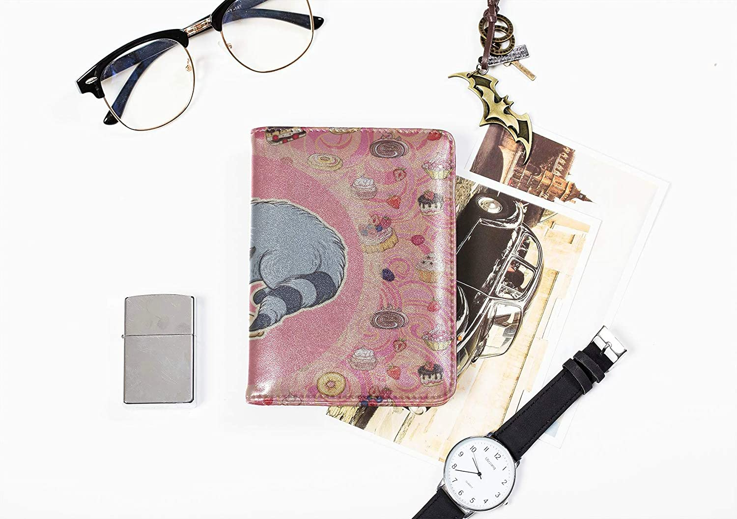 Mens Passport Case Fashion Creative Beautiful Painting Color Passport Cover Multi Purpose Print Cute Passport Cover For Women Travel Wallets For Unisex 5.51x4.37 Inch