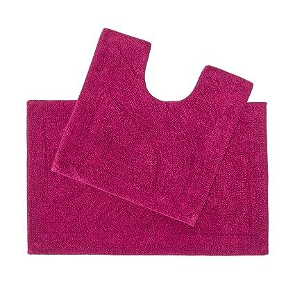 Bathmats Cotton Reversible Fast Absorbent Size 50x80 cm  Pink  new