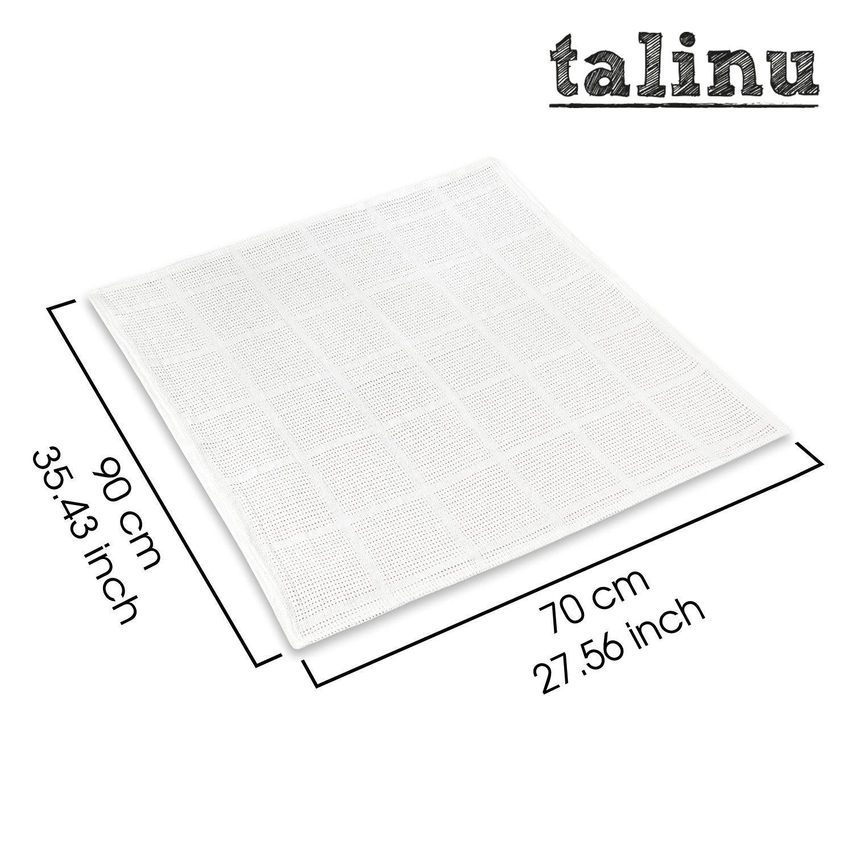 couverture nouveau-n/é 70cm x 90 cm, 100/% coton TALINU couverture de b/éb/é en tricot avec n/œud cadeau