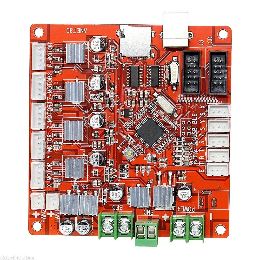 Control Mother Board Mainboard for ANET A8 DIY 3D Printer (red) by cyclamen9 (Image #3)