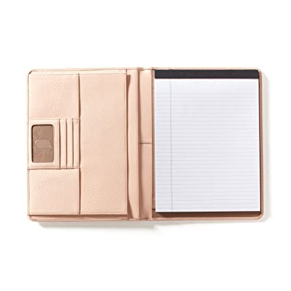 Leatherette Padfolio in Rose