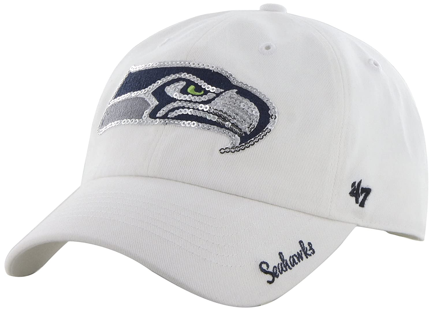the latest c147b 205d9 Amazon.com   NFL Indianapolis Colts Women s  47 Brand Sparkle Team Color Clean  Up Adjustable Hat, White   Sports   Outdoors