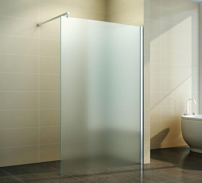 Duschabtrennung glas satiniert  Walk in Duschabtrennung | Vollsatiniert | Milchglas | Duschwand ...