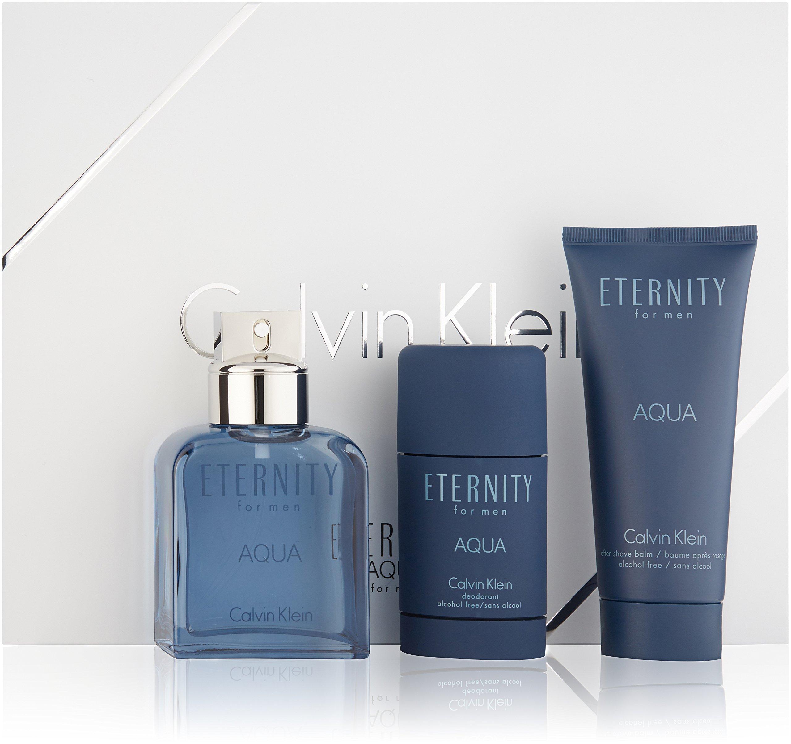 Calvin Klein 3 Piece Eternity Aqua Men's Gift Set