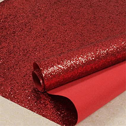 Red Chunky Glitter Wallpaper 3d Sparkly Glitter Fabric Wall Paper