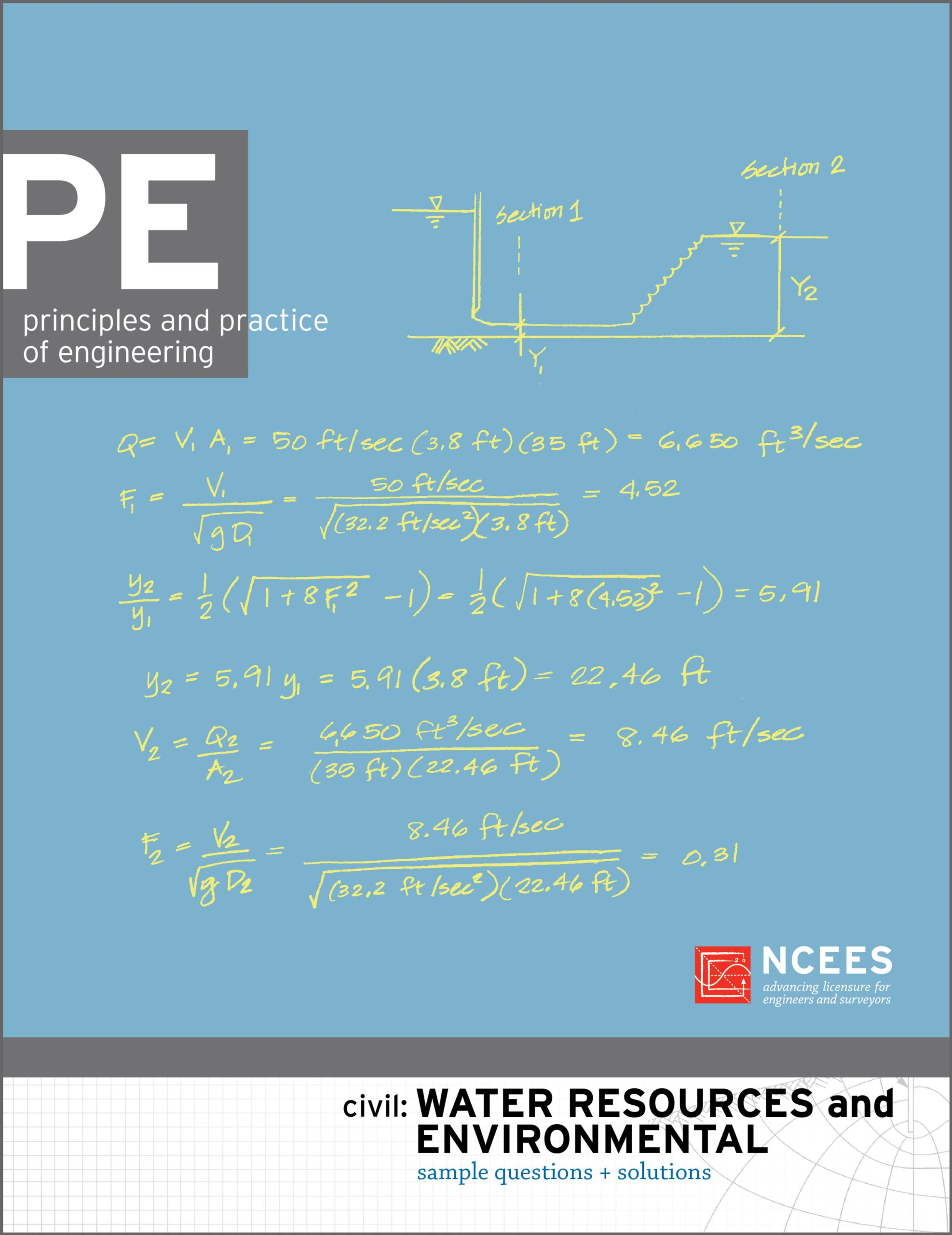 PE Civil: Water Resources and Environmental Sample Questions and Solutions:  NCEES: 9781932613650: Amazon.com: Books