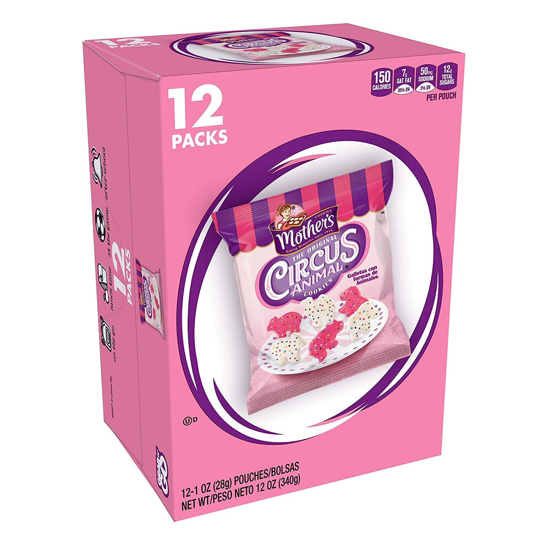 Mothers Cookies, Original Circus Animal, 12 oz Caddy (12 Count)