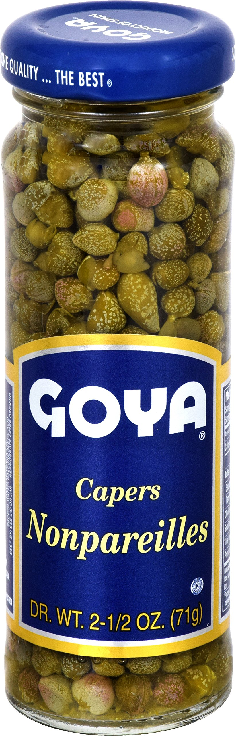 Goya Capers Nonpareilles, 2.5-Ounce Units (Pack of 12)