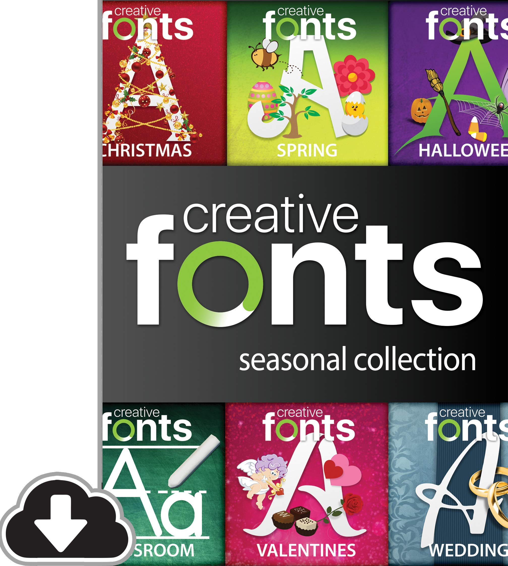 Creative Fonts Seasonal Collection [PC Download] by Summitsoft
