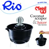 Maggi Rio Coconut Scrapper & Citrus Juicer Attachment For Mixers (Black)