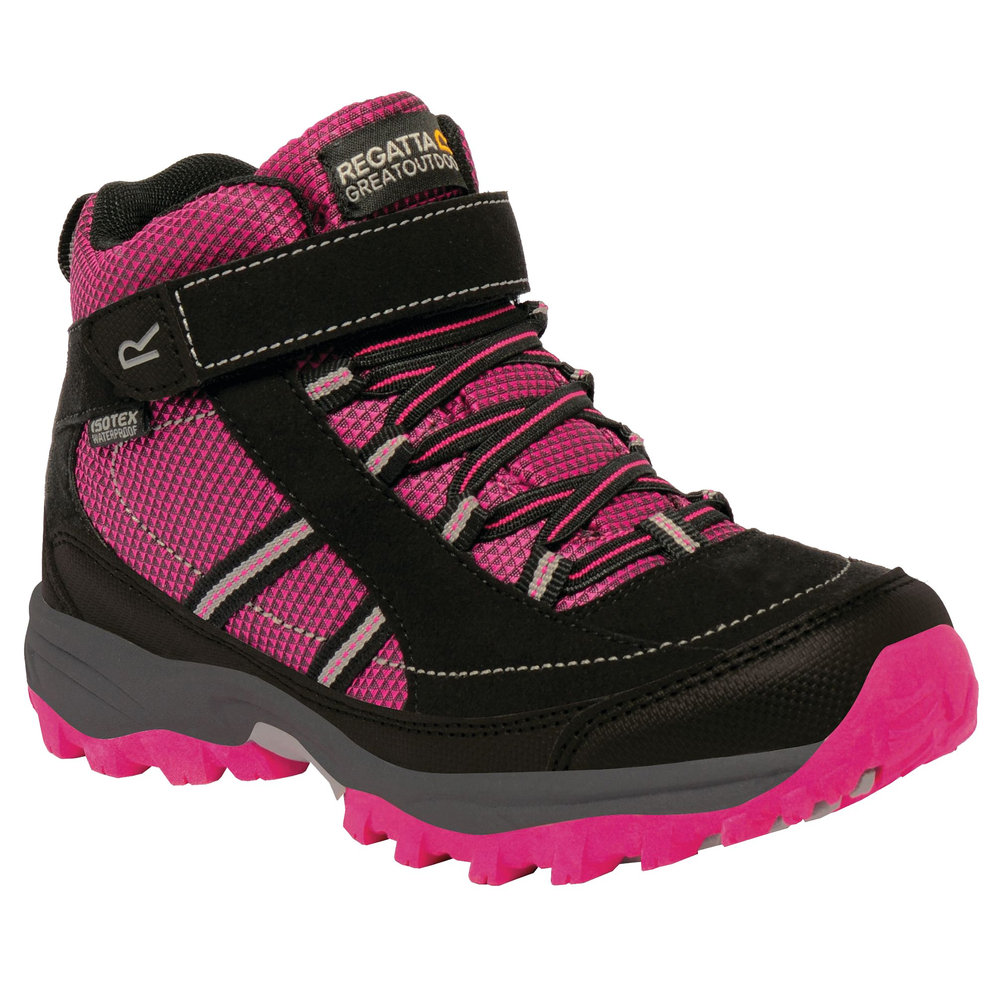 Regatta Great Outdoors Childrens/Kids Trailspace II Mid Walking Boots (US 7) (Briar/Lime Punch)