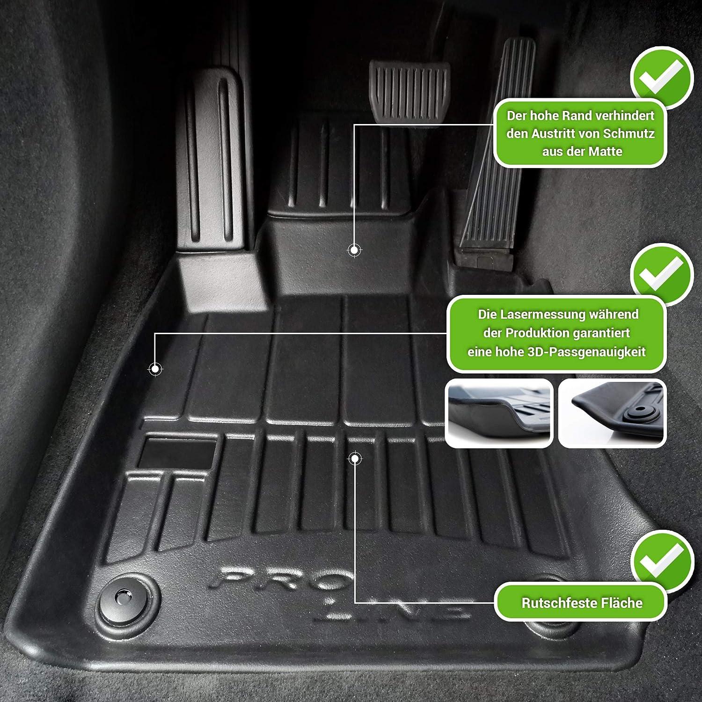 Moto Moltico 3d Gummimatten Auto Fußmatten Gummi Automatten 4 Teilig Set Passend Für Ford Mondeo Mkv Ab 2015 Auto