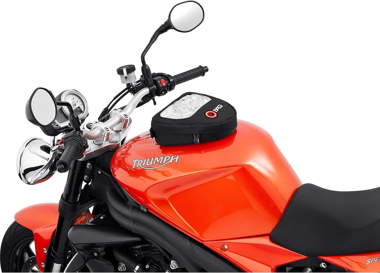 qbag Reservorio Mochila Moto magnético Moto Reservorio Mochila magnético, Bolsillo para Tarjetas Moto magnético, Reservorio Funda Moto magnético, 3L Espacio, Tarjetero, Correa de Hombro, Negro
