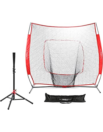 Pinty Baseball and Softball Practice Net 7\u0027×7\u0027 Portable Hitting Batting Training Cages | Amazon.com