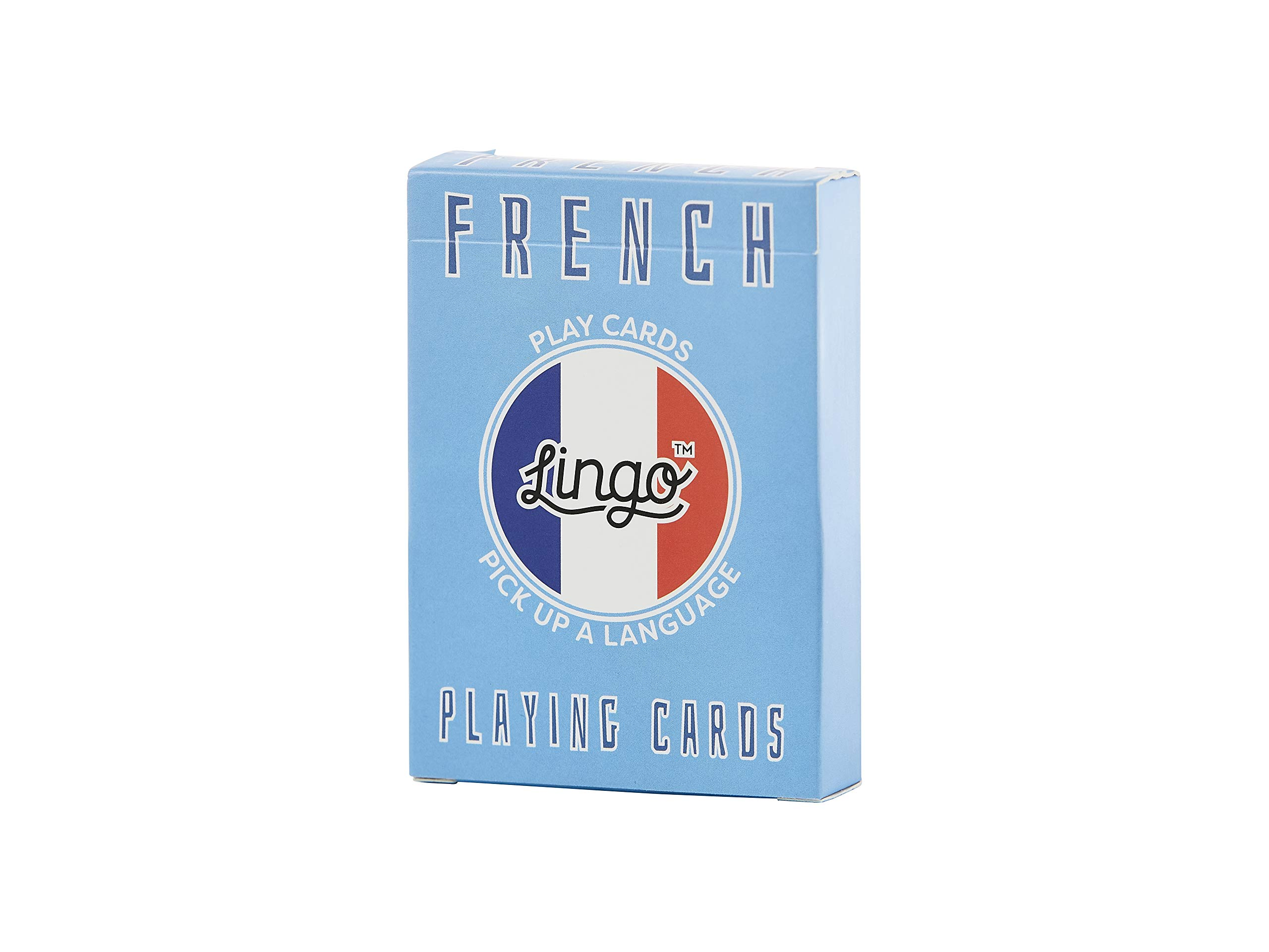 French- Lingo Playing Cards | Language Learning Game Set | Fun Visual Flashcard Deck To Increase Vocabulary and Pronunciation Skills - 54 Useful Phrases