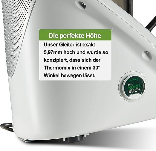 Qitchen - Tabla deslizante invisible para Thermomix TM6 y TM5, teflón autoadhesivo, para robot de cocina Vorwerk. El deslizador de teflón es ideal como accesorio Thermomix: Amazon.es: Hogar
