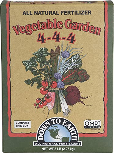 Down to Earth Organic Vegetable Garden Fertilizer 4-4-4