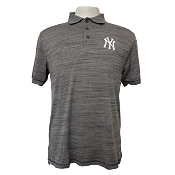 New York Yankees para hombre Polo de malla Athletic Heather gris ...