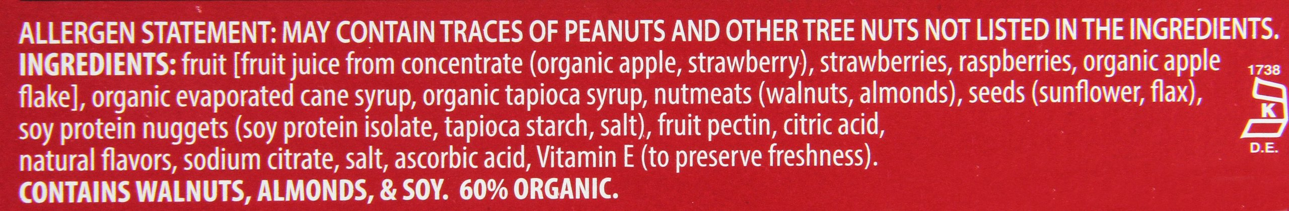 Orchard Bars Fruit and Nut Bar, Strawberry/Raspberry/Walnut, 1.4 Ounce (Pack of 12) by Orchard Bars (Image #3)