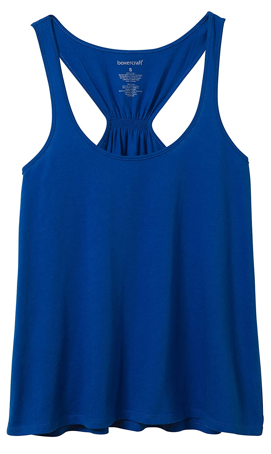 Touch of Europe Youth Solid Royal Blue Racer Back Gathered Flare Tank Top YT87Y