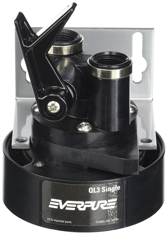 Everpure EV9259-14 QL3 Single Filter Head with Bracket, Shut-off valve, and 3/8 inch NPT threads