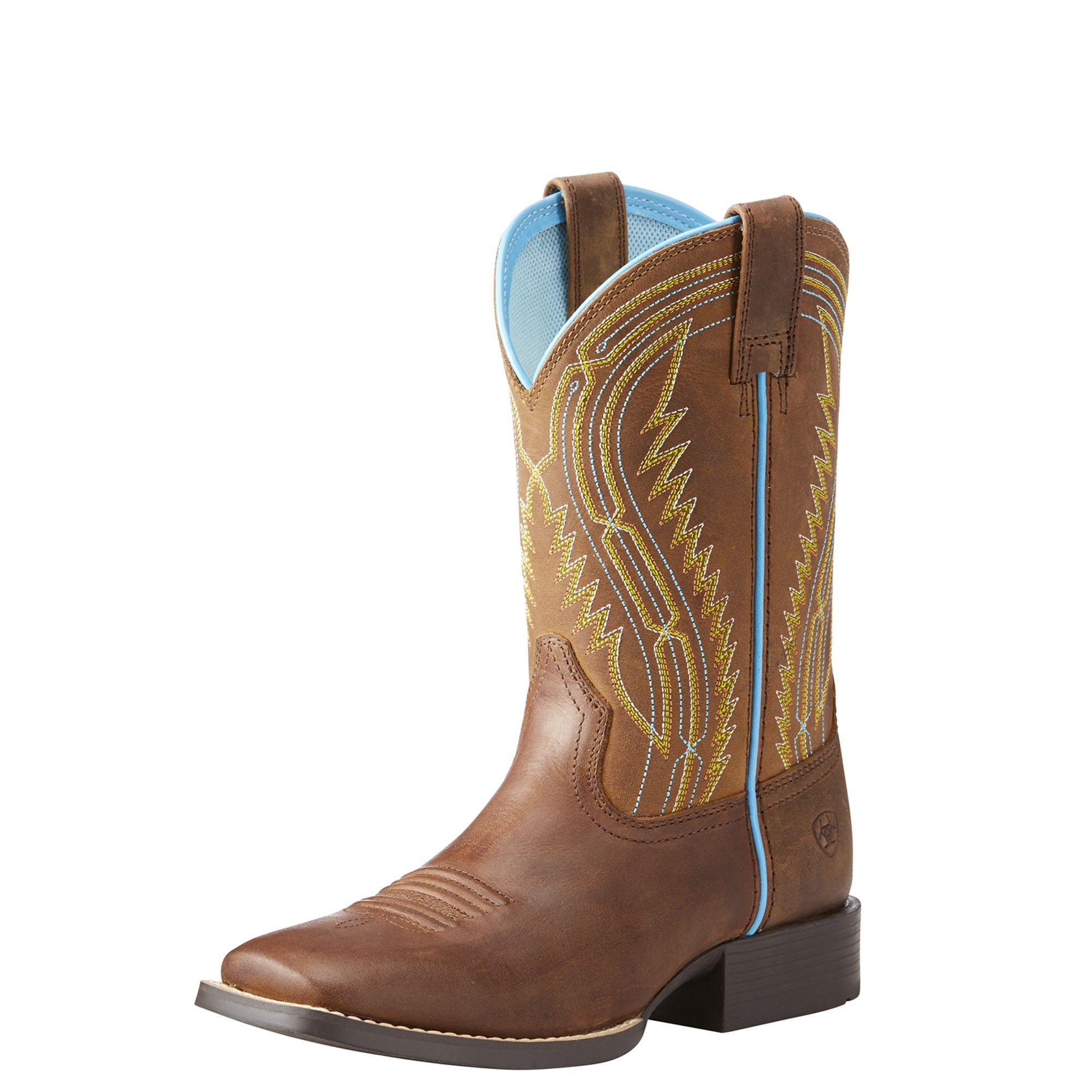 Kids' Chute Boss Western Boot, Distressed Brown, 2.5 M US Little Kid