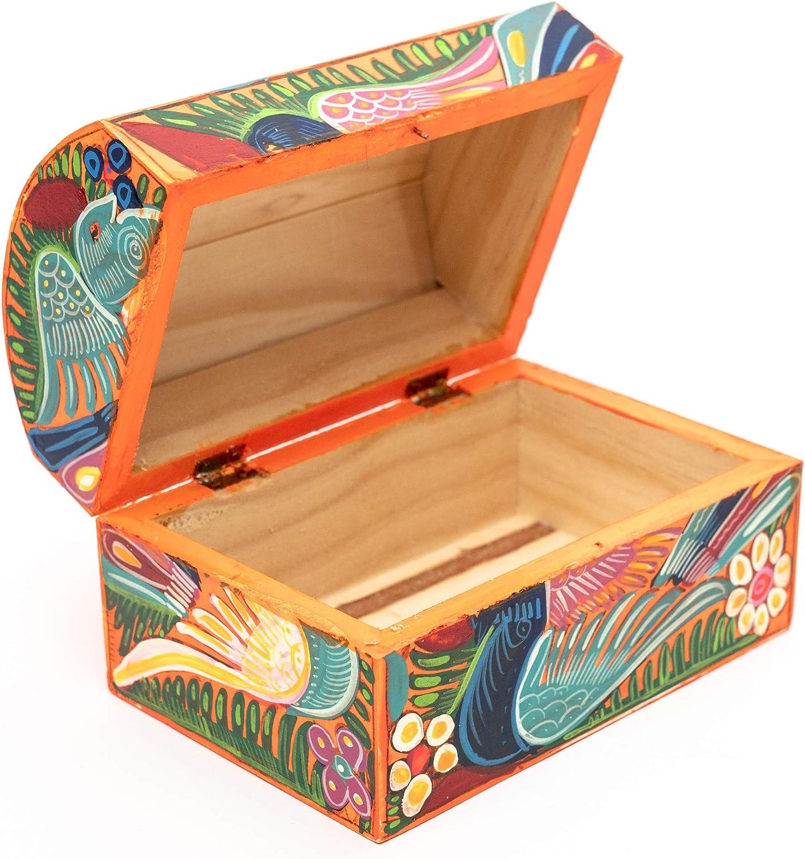 BuenaCo - Caja Decorativa Mexicana Artesanías mexicanas Hechas a Mano. Cajas pequeñas Medianas Joyería de Regalo para niñas pequeñas. Cajitas de Madera.: Amazon.es: Hogar