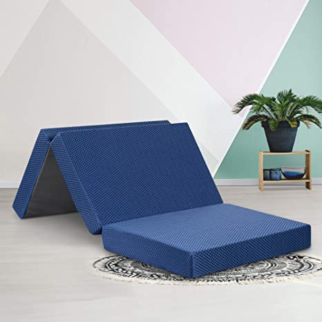Pleasing Ecos Living 4 Inch Tri Folding Memory Foam Mattress Topper Sofa Bed Twin Gmtry Best Dining Table And Chair Ideas Images Gmtryco