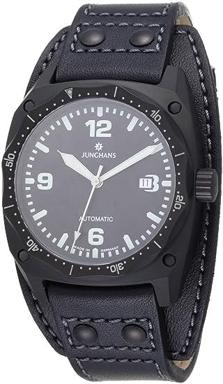 Junghans JM PILOT 027/4521.00 - Reloj de caballero automático, correa de piel color
