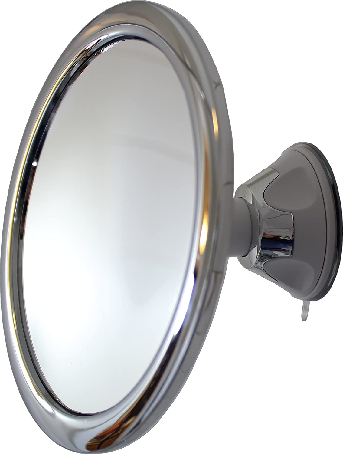 Fog Free Shower Mirror by Mirror On A Rope With Locking Suction Mount and Ball Joint Swivel (1X) sl103