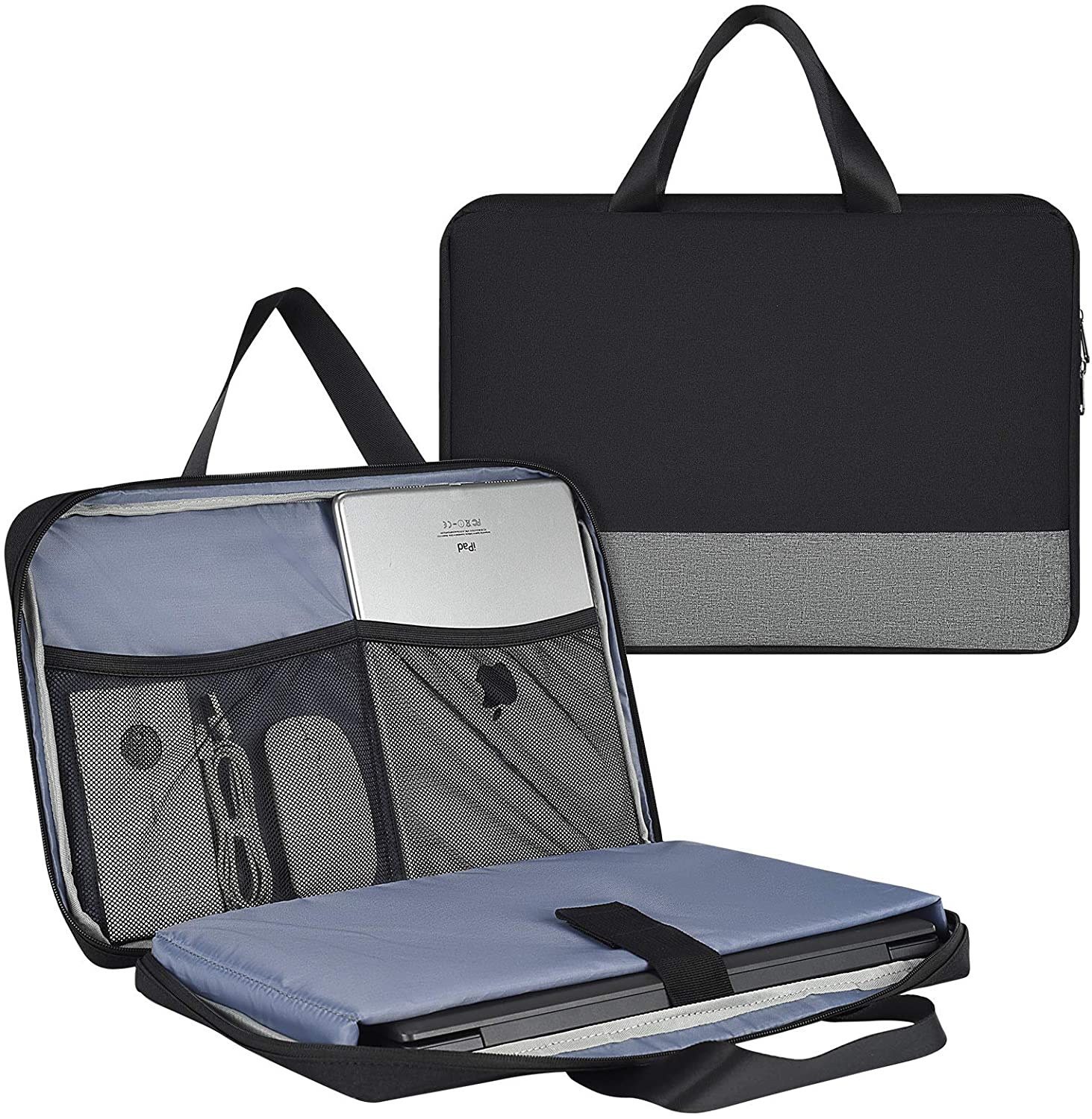 11.6-13 Inch Waterproof Laptop Bag Case for Men Women TSA Briefcase with Accessories Organizer for Acer Chromebook Spin 311, Lenovo Chromebook 11.6, Surface Pro 12.3, Samsung HP ASUS Dell Case, Black
