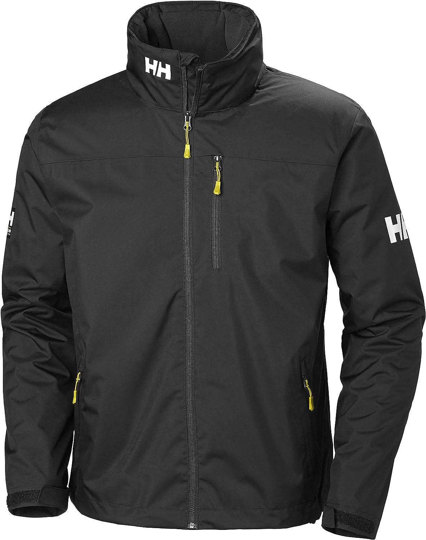 Helly Hansen Crew Hooded Midlayer - Chaqueta Impermeable, Cortavientos y Transpirable, con Forro Polar y Capucha Integrados, Hombre
